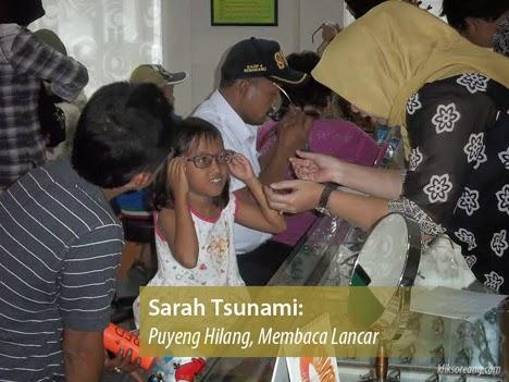 Sarah Tsunami Puyeng Hilang Membaca Lancar