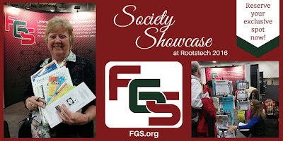 Reserve your exclusive space in FGS Society Showcase at Rootstech via FGS.org