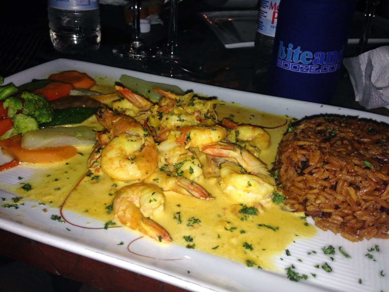 shrimp in curry sauce cabarete