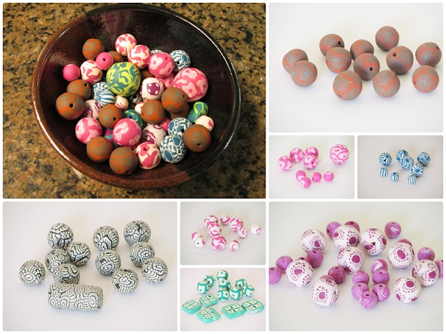 My new craft addiction is making beads with polymer clay.