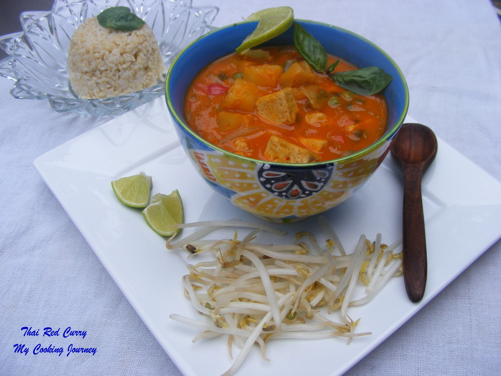 thai red curry with tofu and basil recipes dishmaps thai red curry ...