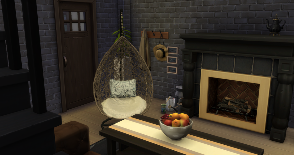 My Sims 4 Blog Husk Armchair And Rattan Hanging Chair By