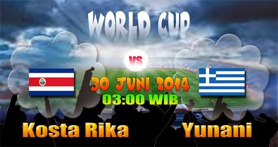 Prediksi Skor (Line-Up) Kosta Rika vs Yunani 30 Juni 2014 | Piala Dunia (16 Besar)