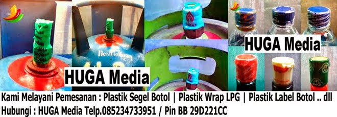 HUGA MEDIA | PLASTIK SEGEL BOTOL | PLASTIK SEGEL CETAK | PLASTIK WRAP SEGEL CETAK KOTAK PRODUK