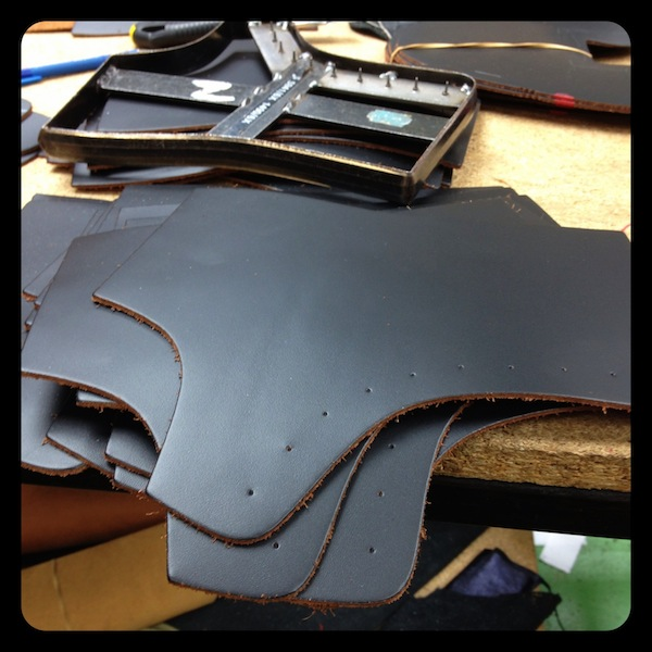 Dr Martens Factory Cutting leather