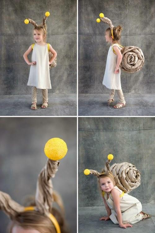 DIY disfraz caracol