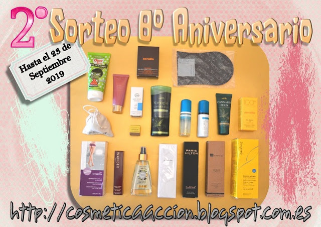 2ºsorteo 8º aniversario cosmetica en accion