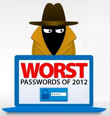 List of Top 25 Worst Passwords in 2012
