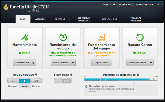 Novedades de TuneUp Utilities 2014