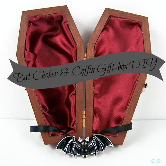 The Cwafty Blog Tutorial Tuesday Bat Choker Coffin Giftbox Diy