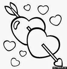 Coloriages Coeur d amour en ligne Allofamille - Coloriage Amoureux A Imprimer