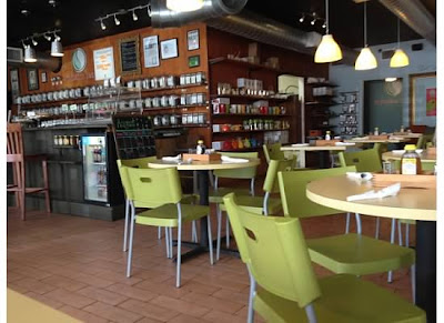 Inside the restaurant at Infusion Tea College Park Orlando