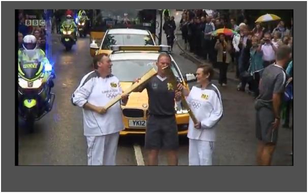 BBC news olympic flag