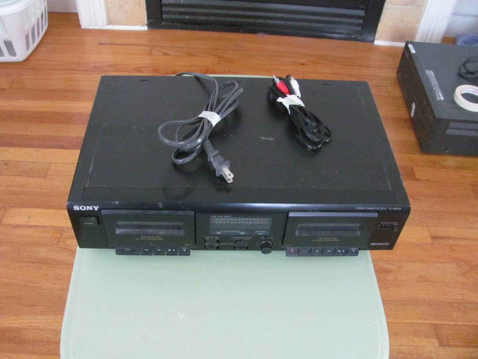 Top view of Sony dual cassette player