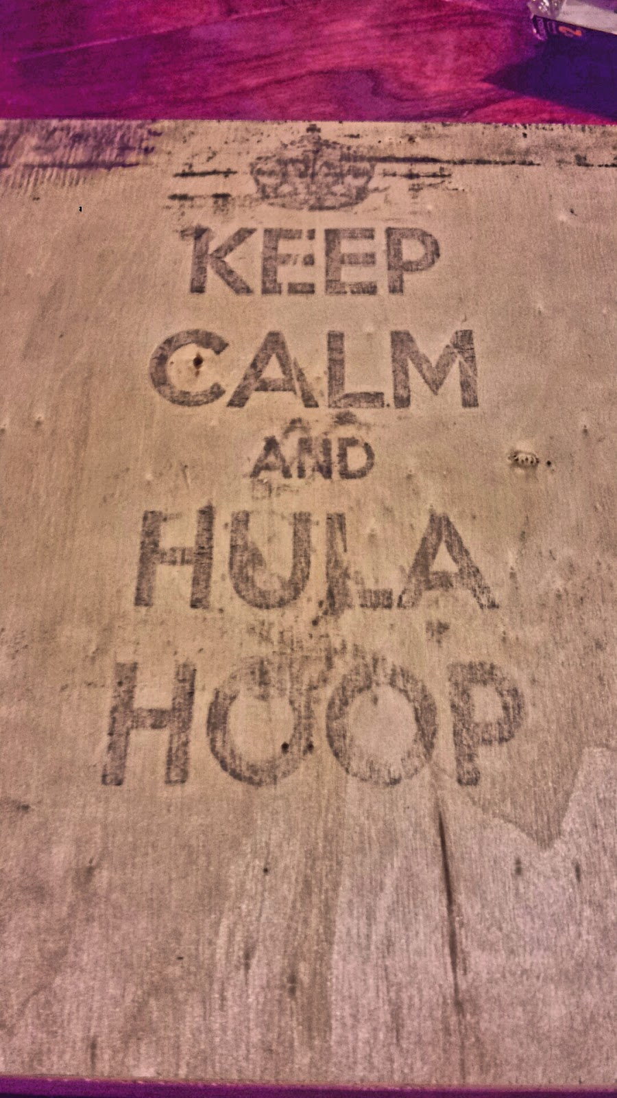wall art, wood, canvas, hula hoop