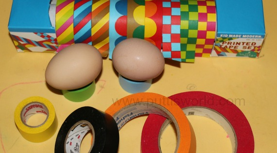 Tape Easy Easter Egg Decorating Kids
