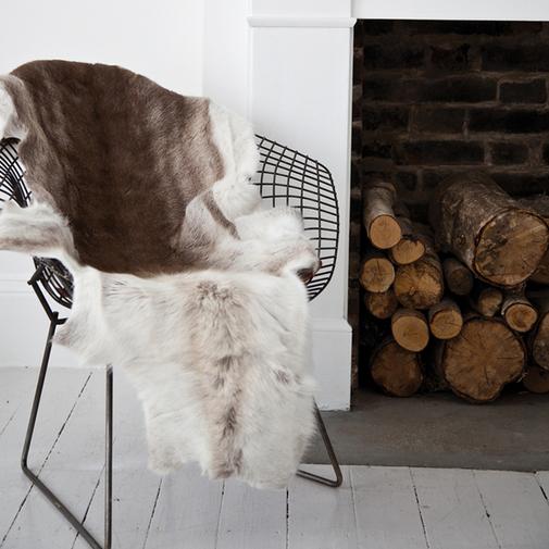 The Modern Sophisticate: Get Cozy: Reindeer Hide Rugs