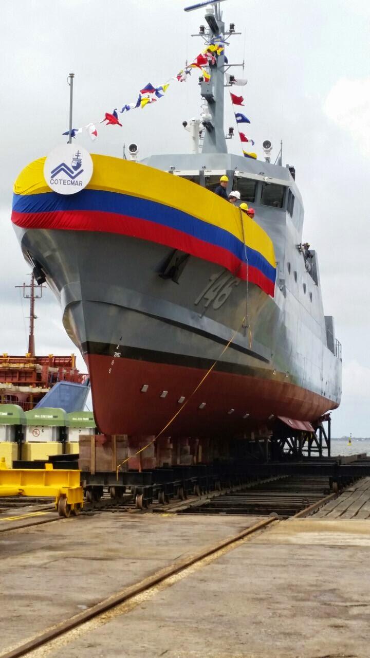 ARC Punta Espada, buque patrullero de costa del tipo CPV-46 fabricado por Cotecmar para la Armada Nacional.