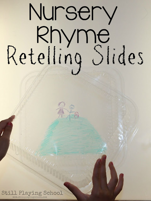 Sequence Nursery Rhymes with DIY Retelling Slides