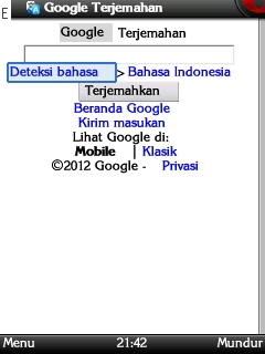 Google Translator Lewat HP