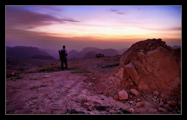 Jordan - Pink Sunset over Petra