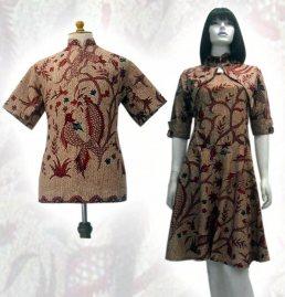 Model baju batik modern 01