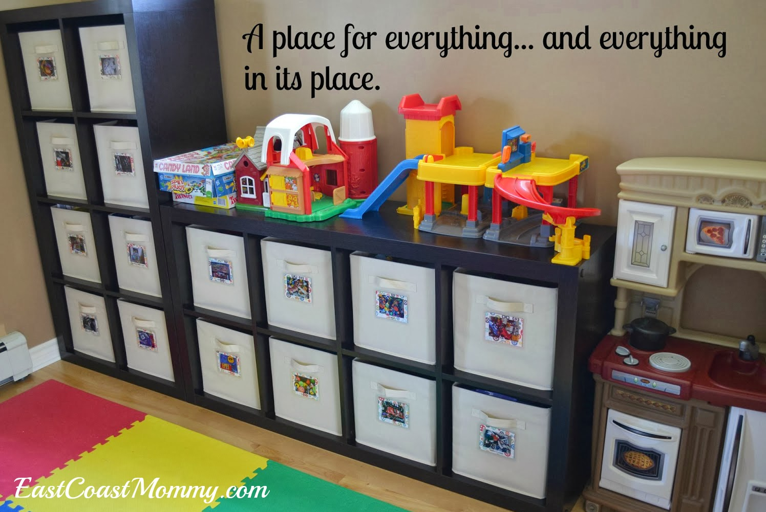 East Coast Mommy 15 Simple Ways To Get Organized & Simple Toy Storage Solutions - Listitdallas