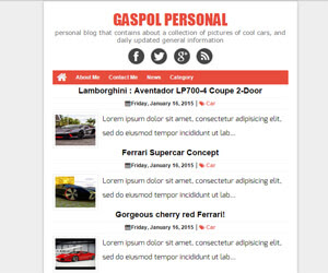Gaspol Blogger Template Wap Game đẹp chuẩn SEO 2015