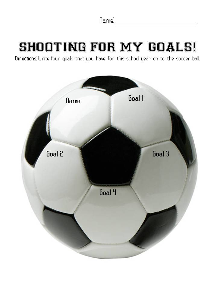 for our goals- An activity that has kids writing goals for the school ...