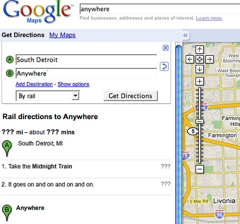 Google Maps, Dont Stop Believing lyrics