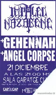 entrada de concierto de impaled nazarene