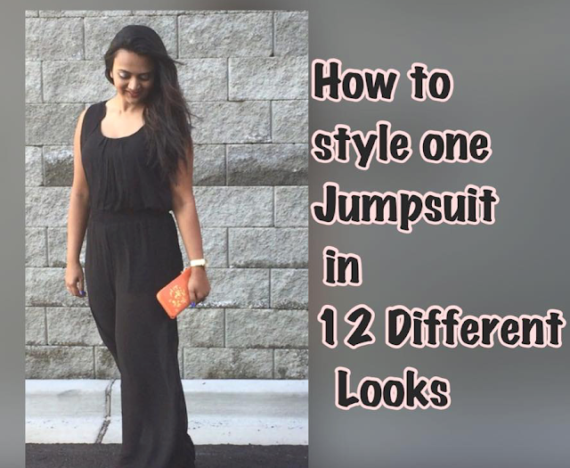 How to Style Jumpsuit in 12 different ways, 12 different looks, Jumpsuits, Black jumpsuit, ananyatales, Indian Fashion blogger, Styling jumpsuit, buy jumpsuit
