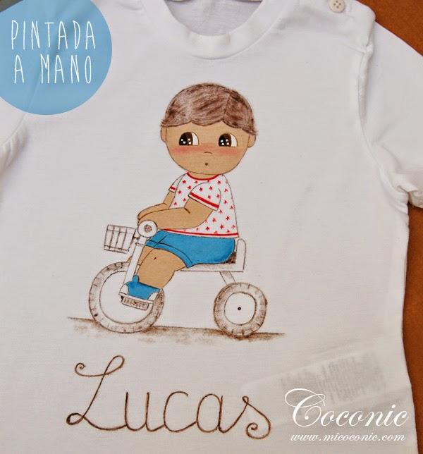 Camiseta pintada a mano personalizada para Lucas | COCONIC ...