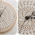Relógio de crochê - Passo a passo - Fotos