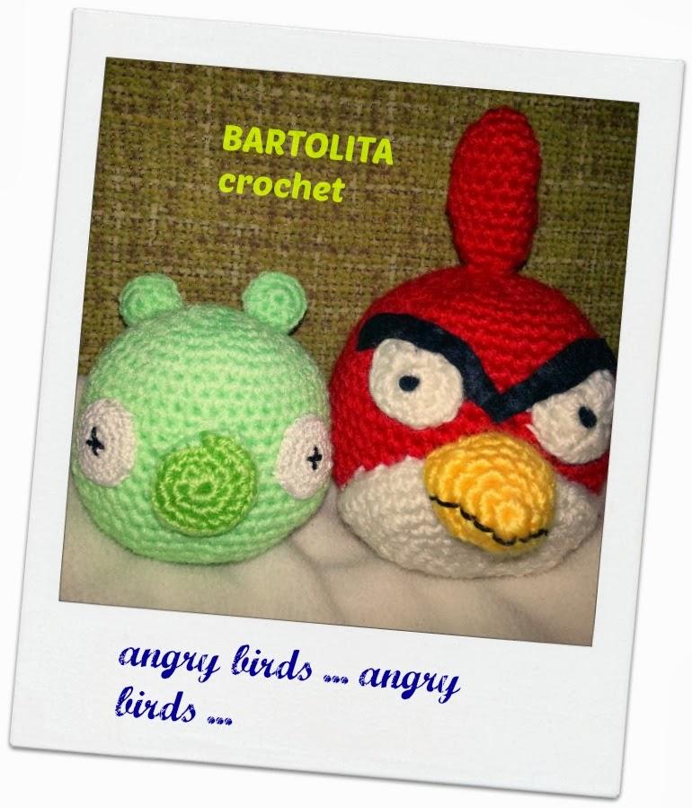Cerdo Angry Birds Amigurumi : Bartolita y su ganchito: Pajaros enfadados Vs cerditos verdes