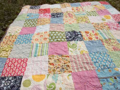 Plum and June: The First Blog Hop News and a Simple Patchwork Quilt : patchwork quilt squares - Adamdwight.com
