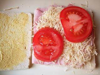 Croque-monsieur à la tomate (voir la recette)
