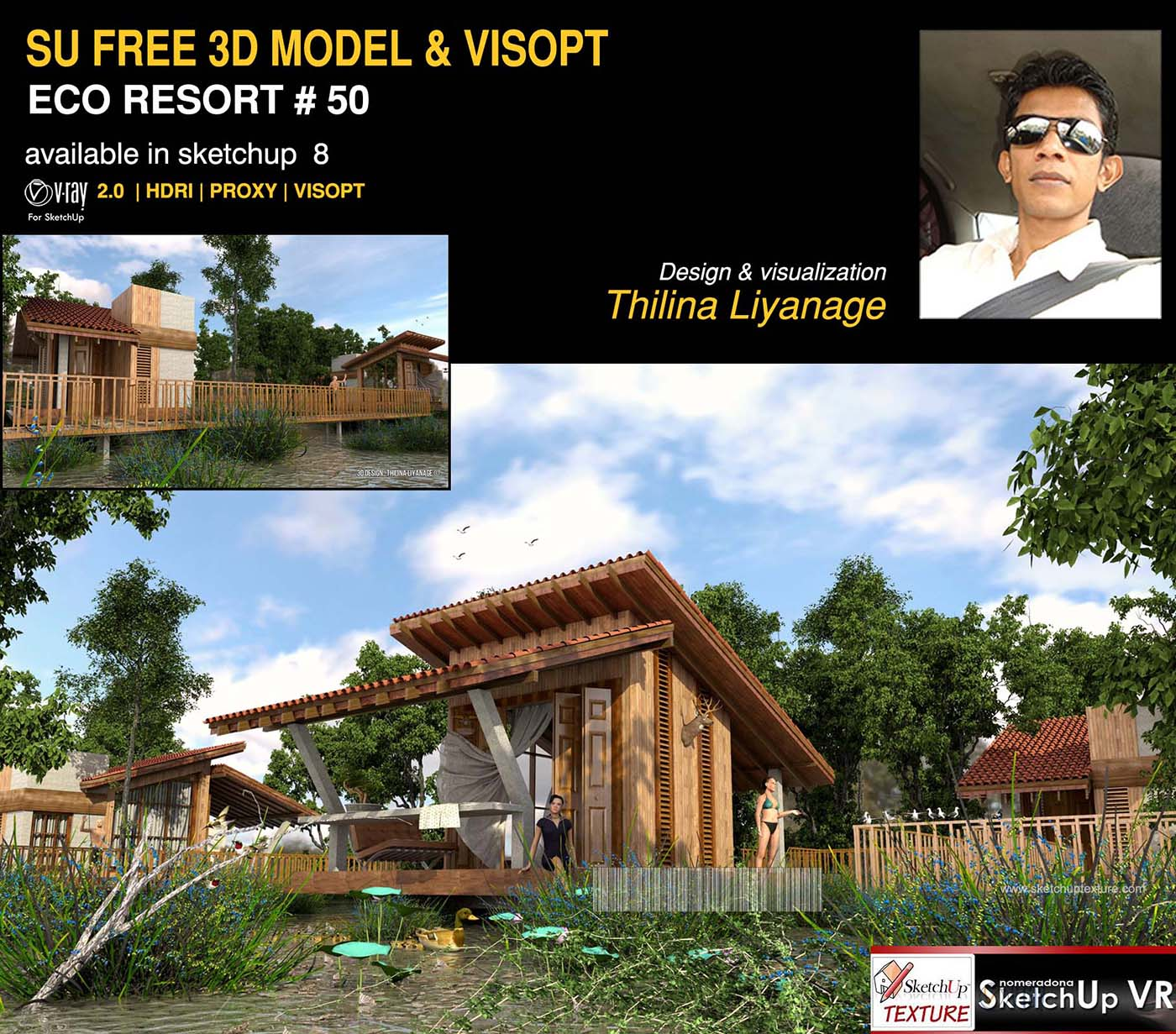 Thai house model sketchup