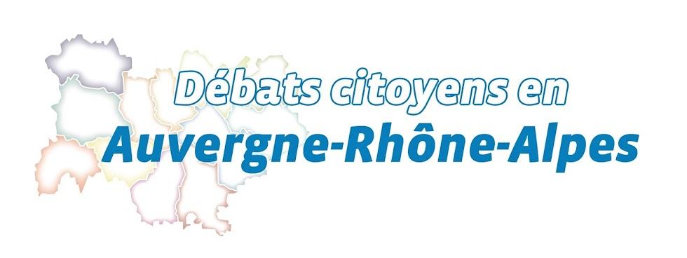 Cliquez sur le logo Débats citoyens en AURA !