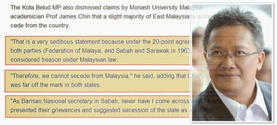 For those who think Malaya owns Sabah and Sarawak
