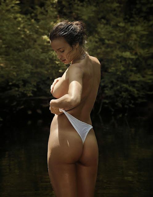 Irina Shayk Sexy Semi-Nude V Man Magazine Photoshoot
