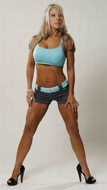 Bikini fitness model woman