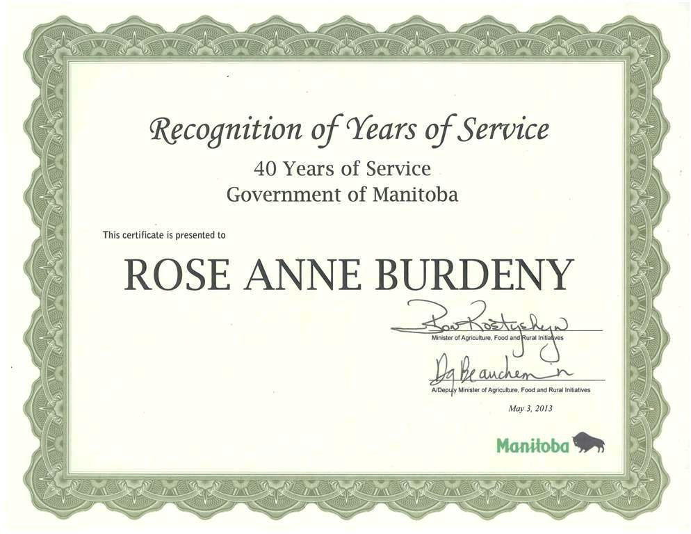 My Creative Works: 40 Years of Service Award