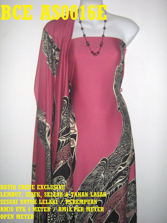 BCE AS0016E: BATIK CREPE EXCLUSIVE ,  4 METER