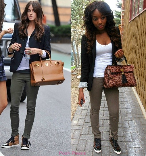 d874946e6a2 Posh Pearls  Get The Look  Olivia Palermo High Top Sneakers
