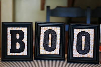 Boo Halloween Frames DIY by eighteen25