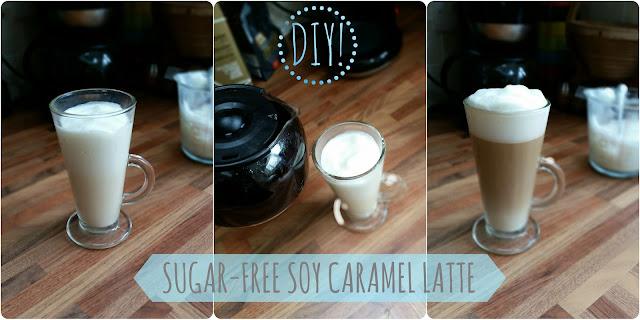 my general life diy sugar free soy caramel latte dairy free lactosre free