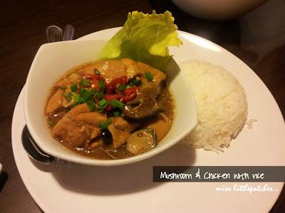 Mushroom & Chicken with rice