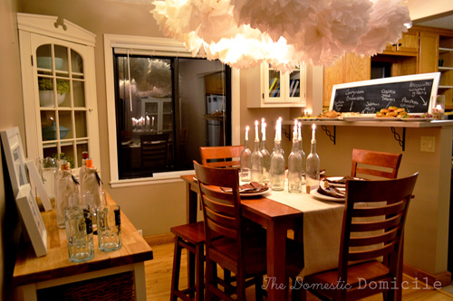 Wine themed party the big day the domestic domicile for Wine themed dining room ideas