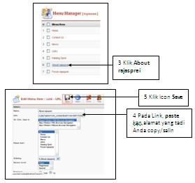 Cara membuat website dengan joomla: Bagaiman cara akses top menu di joomla?
